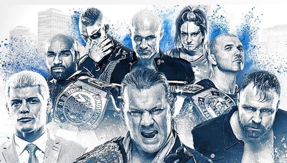 John Moxley, Cody Rhoades y Chris Jericho son algunas de las estrellas de AEW. (Difusión: Space)