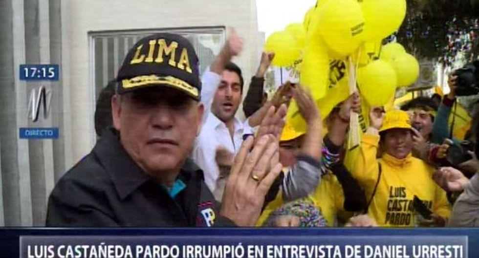 Luis Castañeda Pardo interrumpió a Daniel Urresti cuando estaba siendo entrevistado por la prensa. (Fotos: Facebook/Canal N)