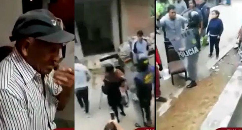 Anciano fue desalojado de su casa. (Captura TV)