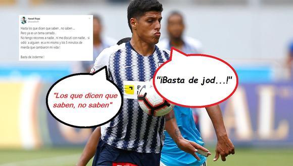 """Hansell Riojas explotó iracundo luego que Bengoechea lo delató y contó detalles de su salida de Alianza Lima: """"Basta de joderme"""""""