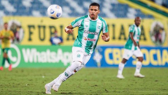 No tuvo suerte: Fernando Pacheco jugó en la derrota de Juventude ante Ínternacional en el Brasileirao | (Foto: Agencias)