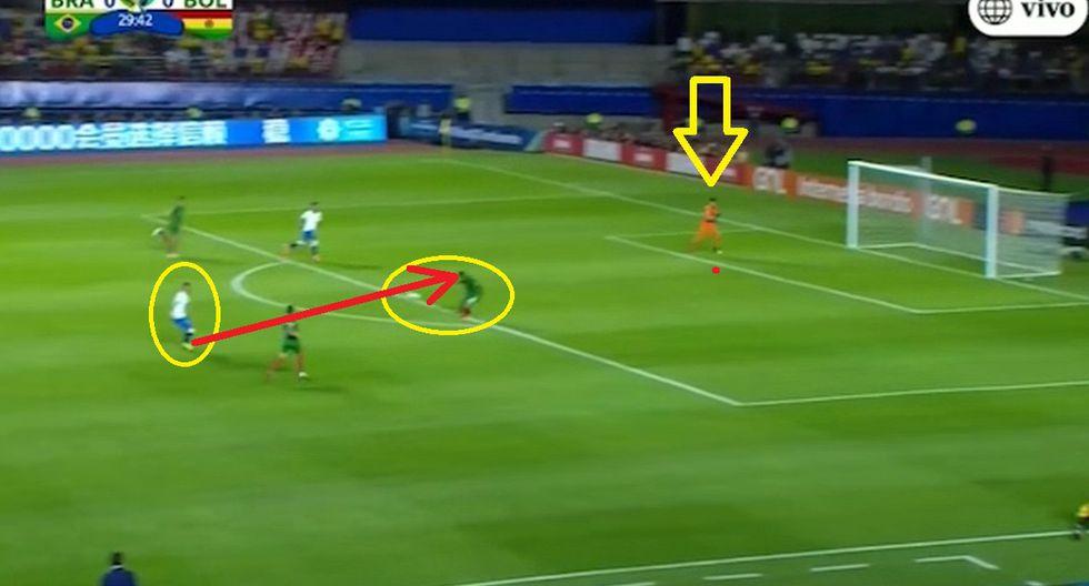 Defensa boliviano evitó gol de Richarlison con la cara tras blooper de Lampe en el Brasil vs Bolivia