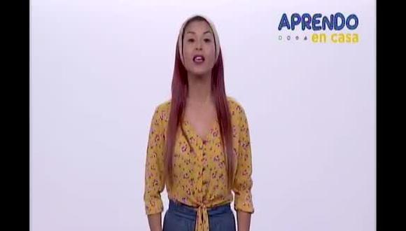 Aprendo en Casa: Stephanie Orue (Captura de pantalla).