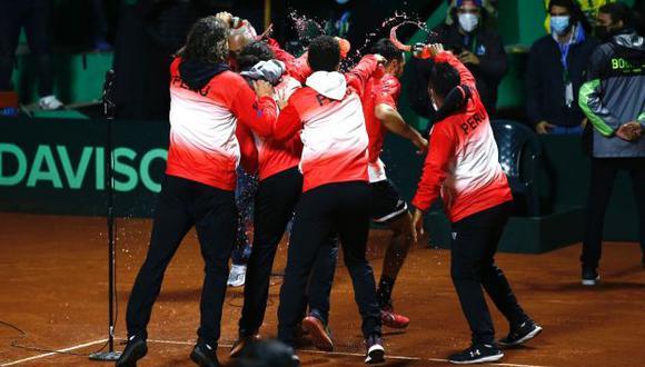 Perú venció a Bosnia en la Copa Davis y clasificó al repechaje por el grupo mundial | (Foto: Fernando Sangama / @photo.gec)