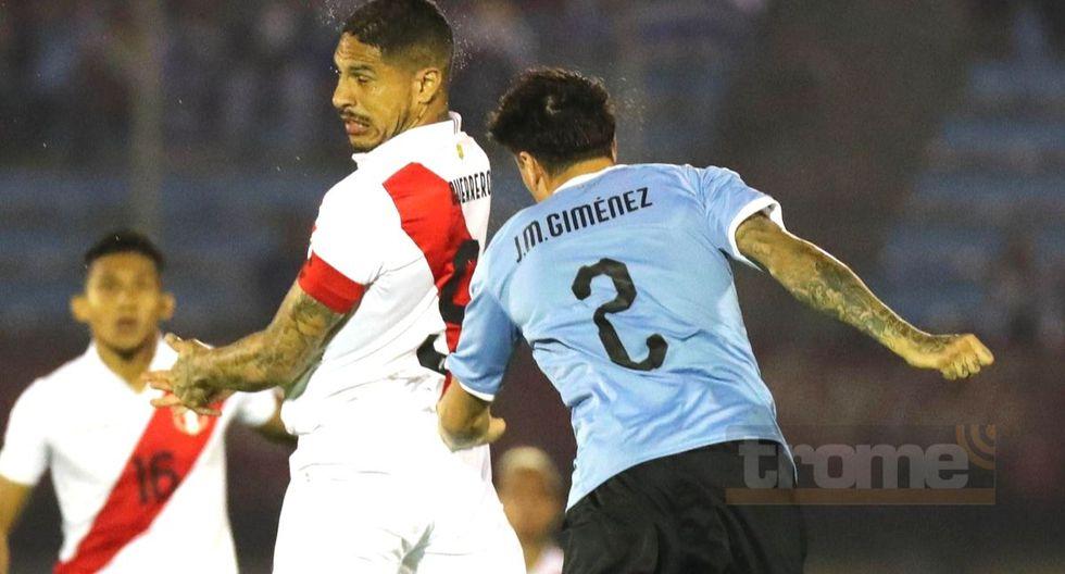 Zaguero charrúa corrió a pedirle camiseta a Paolo Guerrero