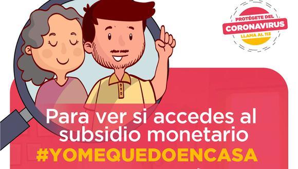 Para saber cómo cobrar el bono de S/ 380, solo debes ingresar al sitio http://yomequedoencasa.pe, del Ministerio de Desarrollo e Inclusión Social (Foto: Midis)