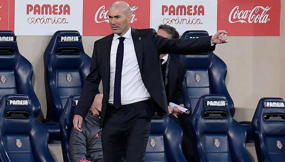 Zinedine Zidane no estará en el banquillo en el Real Madrid-Alavés de este sábado. (Foto: AFP)