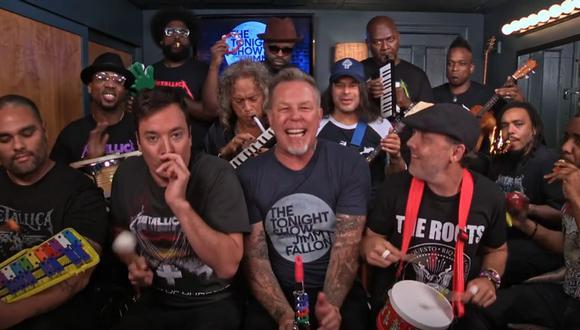 Metallica en el show de Jimmy Fallon.
