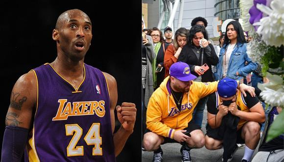 El Staples Center se llena de aficionados para despedir a Kobe Bryant tras su muerte. (Foto: AFP)