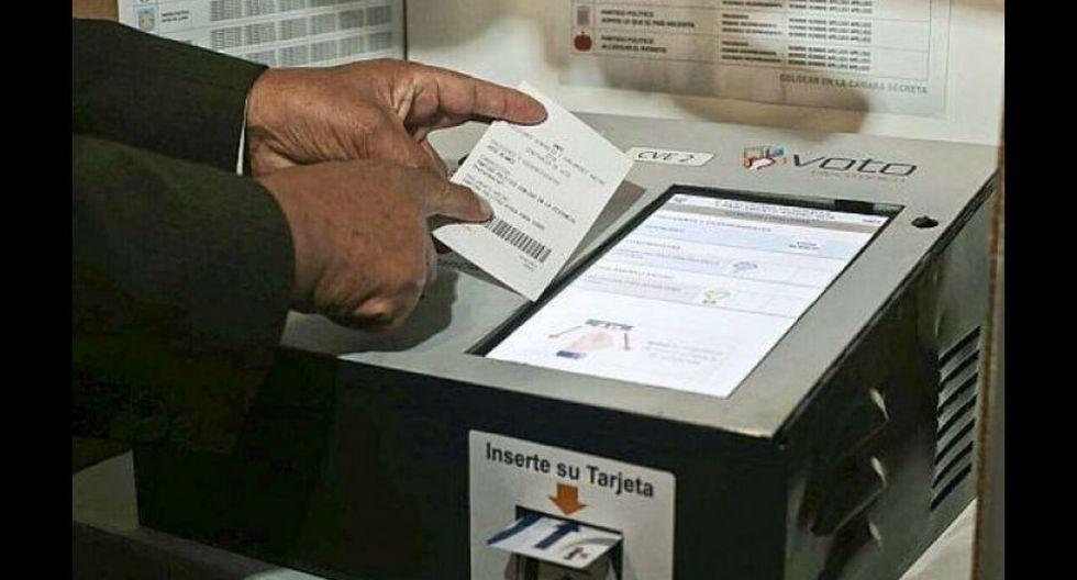 Lanzan simulacro del voto electrónico para la segunda vuelta de las Elecciones 2016.