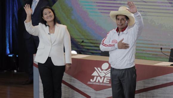 Keiko Fujimori y Pedro Castillo participaron en la segunda vuelta y el JNE debe proclamar al ganador en los próximos días. (Foto: Leandro Britto / @photo.gec)
