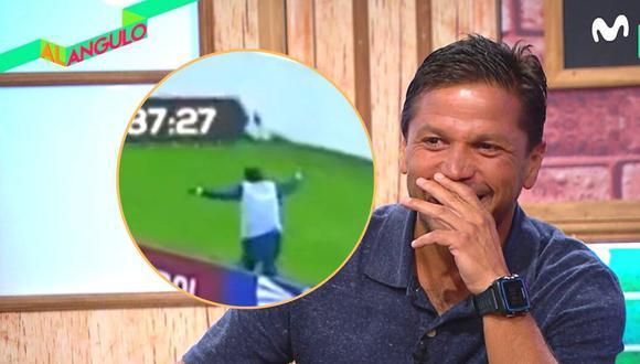 Pedro García festejó como hincha segundo gol de Perú en Quito (Captura Movistar)