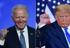 Elecciones EE.UU.: Biden muy cerca a la Casa Blanca y Trump se autoproclama presidente en cuatro estados