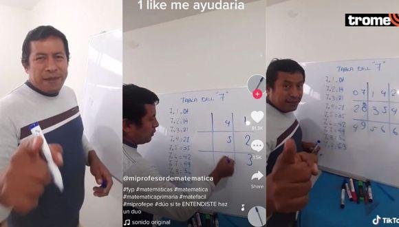 Profesor peruano usa Tik Tok para enseñar matemática y se vuelve viral por sus novedosos métodos
