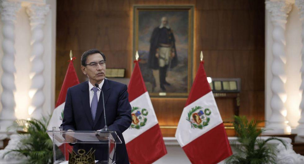 Mensaje a la Nación del presidente Martín Vizcarra / foto: Anthony Niño de Guzmán