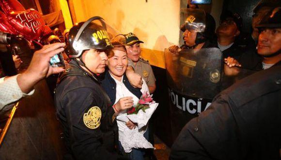 Keiko Fujimori salió e libertad. (Foto: Hugo Curotto/GEC)