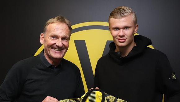 Erling Haaland jugará en Borussia Dortmund hasta el 30 de junio del 2024. (Foto: @BVB)