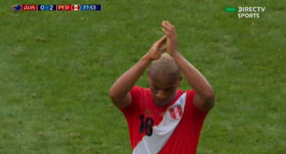 André Carrillo tras cambio recibió sonora ovación y aplausos de todo el estadio de hinchas peruanos | Video
