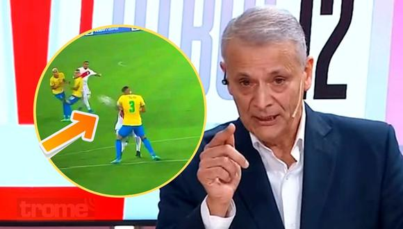 Castrilli confirma que mano de Thiago Silva fue penal (Captura ESPN)