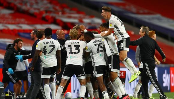 Fulham ascendió a la Premier League tras vencer al Brentford. (Foto: Twitter)