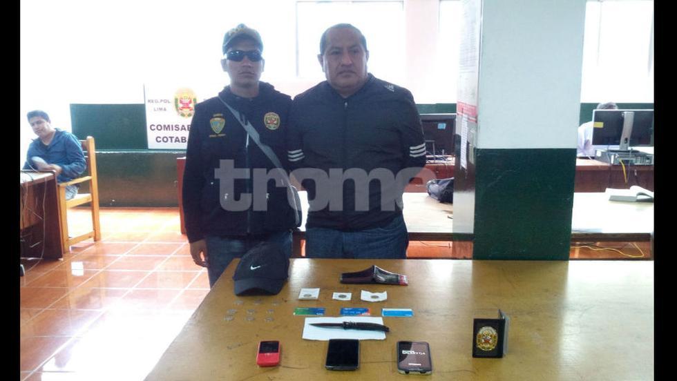 Ratero se hacía pasar como policía en el Cercado de Lima.