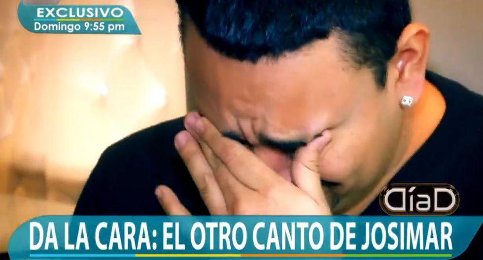 Josimar estalló en llanto por acusaciones de sus exparejas. (Captura: Día D)