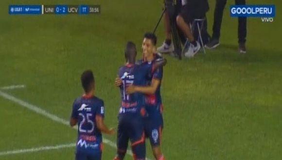 Gol de José Manzaneda en Universitario vs César Vallejo