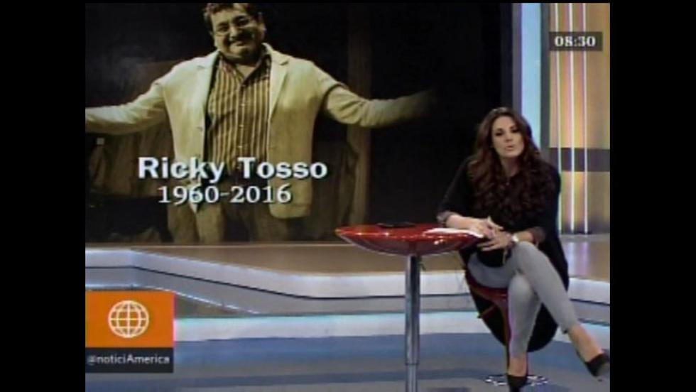 Rebeca recordó a Ricky Tosso antes de iniciar su programa [VIDEO]