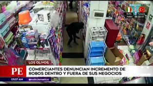 Los Olivos: comerciantes denuncian incremento de robos en sus negocios