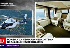 ¿Cómo es viajar en un helicóptero de Lujo?, la aeronave valorizada en 14 millones de dólares