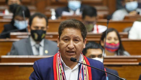 Guido Bellido se presentó ante el Congreso para pedir el voto de confianza. (Foto: Presidencia)