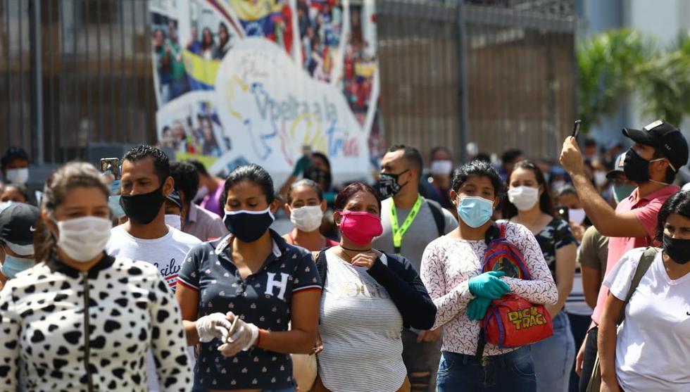 Venezolanos llegan hasta su embajada para pedir vuelos humanitarios a Venezuela   TROME   GEC   Fernando Sangama