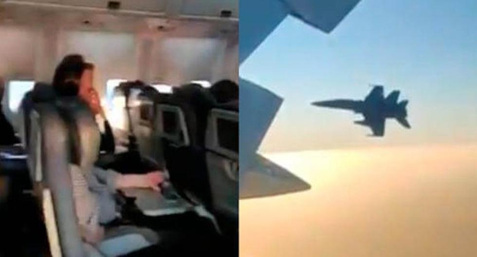 Usuarios compartieron cómo fue el aterrizaje de emergencia del avión de Air Canada en España. (Twitter)