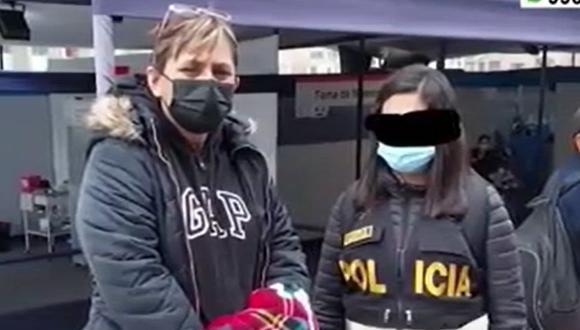 La exvoleibolista Ana Cecilia Aróstegui Girano, quien supuestamente era la tesorera de la ONG Donantes de Esperanza. (Captura: América Noticias)
