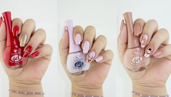 Diseños de uñas para Navidad.