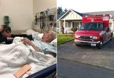 Anciano se rompe la cadera cortando el césped y los paramédicos que lo atendieron terminaron el trabajo