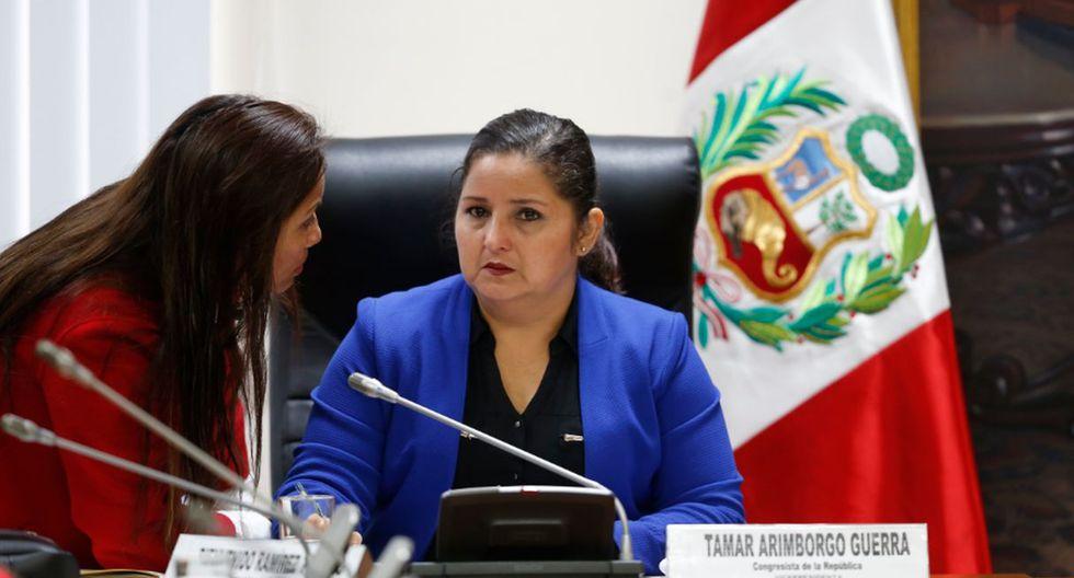"""Tamar Arimborgo, congresista de Fuerza Popular, aseguró en un proyecto de ley que el enfoque de género causa """"cáncer"""". (Fotos: GEC/Congreso de la República)"""