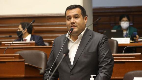 Franco Salinas es vocero de Acción Popular. (Foto: Congreso de la República)