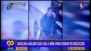 Policía busca a banda de mujeres que utilizan niños para robar en el Callao
