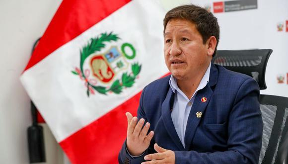 Guido Bellido señaló que la decisión es exclusiva del Ministerio Público.  (Foto: PCM)