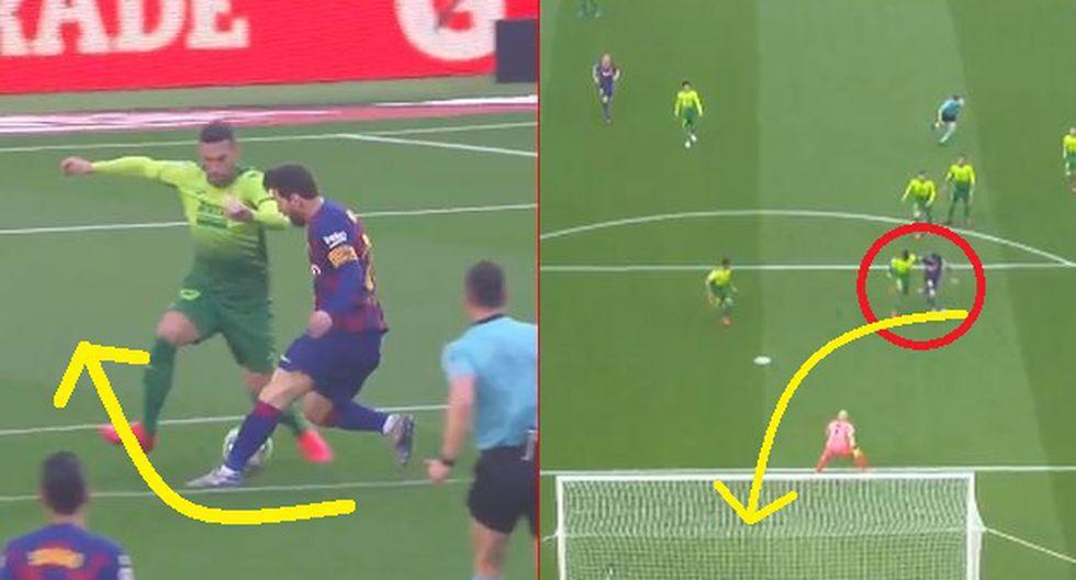 Gol de Messi en el Barcelona vs Eibar por Liga Santander: Humilló a rival con huacha y la picó
