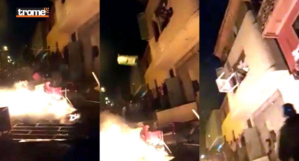 Indignados vecinos queman bares y expulsan a venezolanos tras macabro asesinato de obrero (TROME)