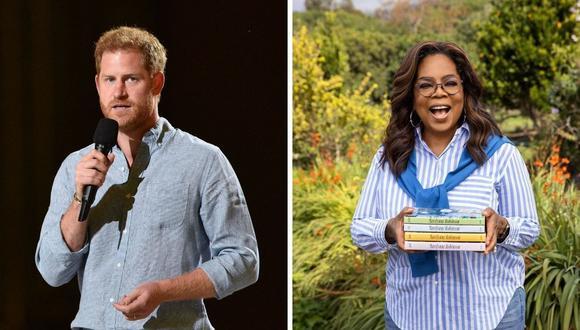 Oprah Winfrey y el príncipe Harry serán los presentadores de una serie documental sobre la salud mental. (Foto: Instagram @oprah / Valerie Macon / AFP)