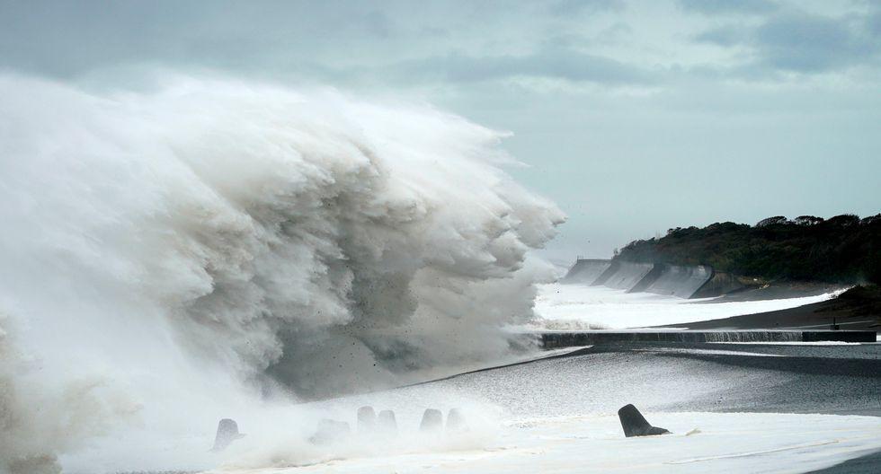 El potente tifón causó inundaciones en diferentes localidades de Japón. (Foto: EFE)