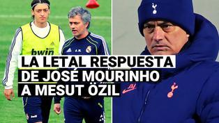 Esta fue la sarcástica respuesta de Mourinho a la provocación de Mesut Özil