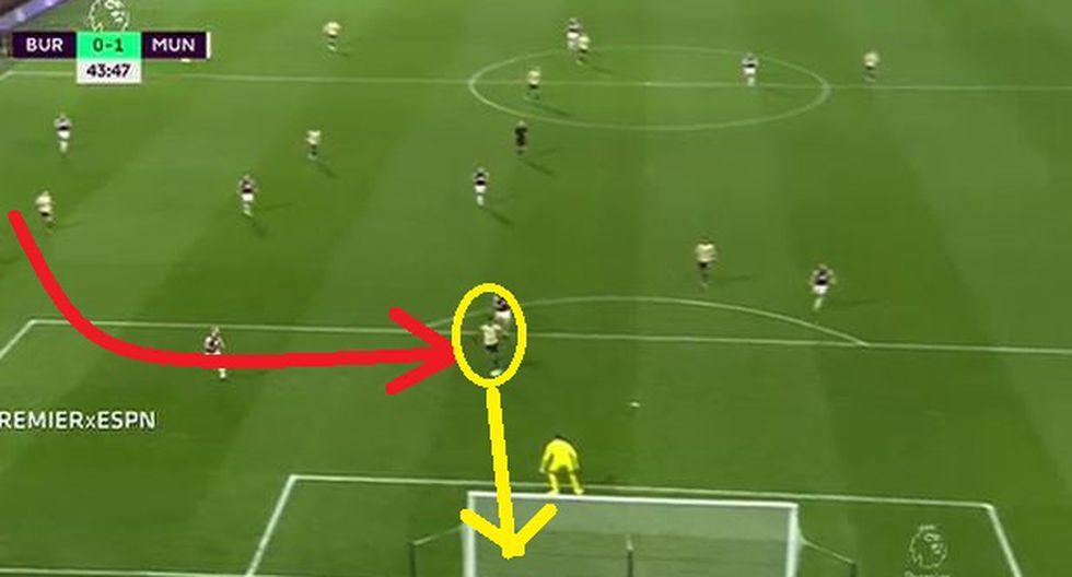 Gol de Manchester United: Martial definió con clase ante Burnley por la Premier League