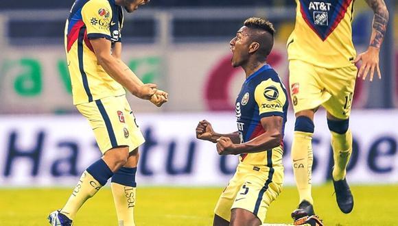 Pedro Aquino marcó su primer gol oficial con América (Agencias)