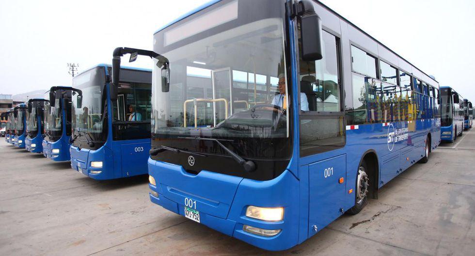 Estos son los buses que se sumarán a nueva ruta para aliviar la alta demanda de usuarios en hora punta. (Foto: GEC)
