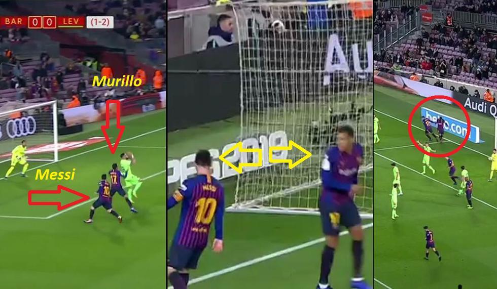 Jeison Murillo le robó gol a Messi: Barza-Levante por Copa del Rey