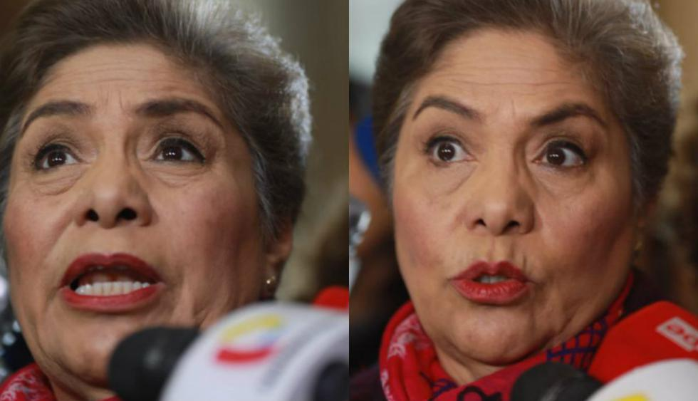 Luz Salgado arremete contra el Ejecutivo. Foto: GEC | Juan Ponce
